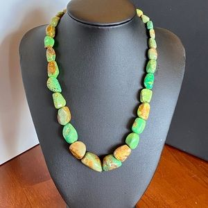 Jay King green & brown turquoise necklace